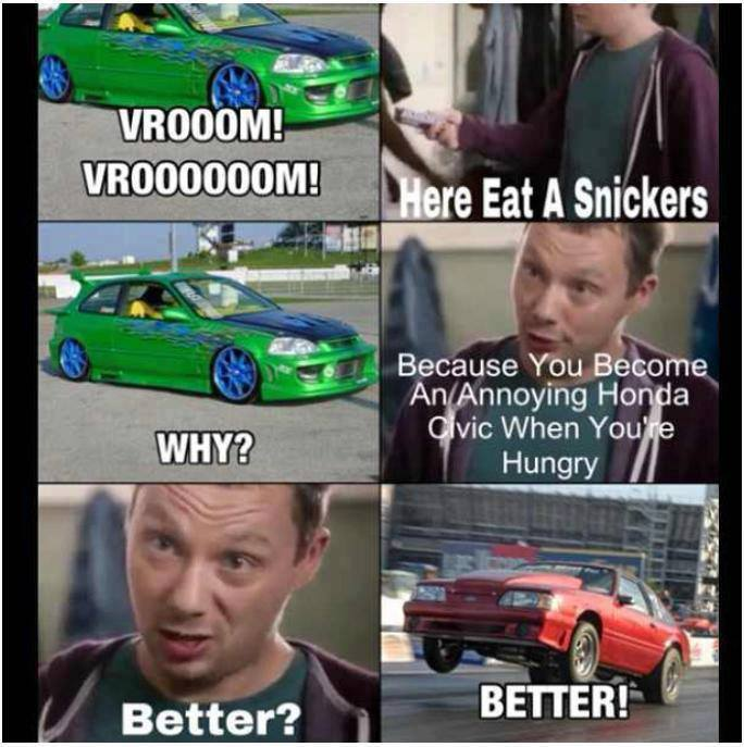 Eat a Snickers ….. » Twin Tiers Mustang Club